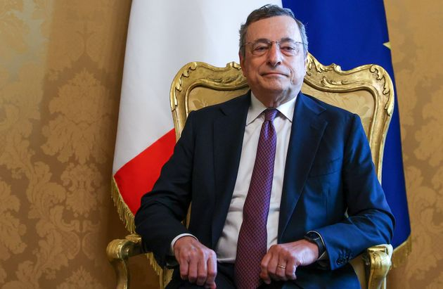ROME, ITALY - AUGUST 27, 2021: Italy's Prime Minister Mario Draghi attends a meeting with Russia's Foreign...