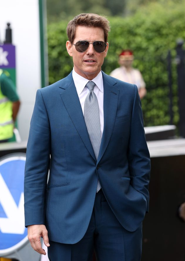 Tom Cruise pictured at Wimbledon last