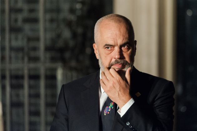 Prime Minister of Albania Edi Rama leaves 10 Downing Street after attending reception for NATO leaders hosted by British Prime Minister Boris Johnson on 03 December, 2019 in London, England, ahead of the main summit tomorrow held to commemorate the 70th anniversary of NATO. (Photo by WIktor Szymanowicz/NurPhoto via Getty Images)