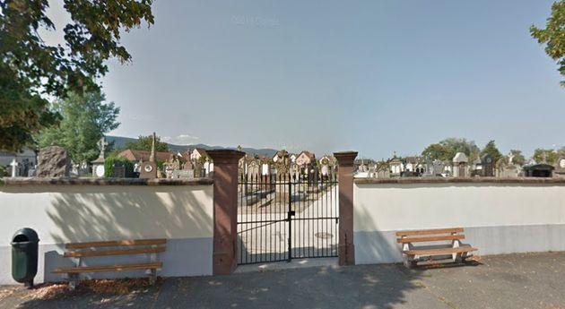 L'entrée du cimetière de Rouffach, dans le