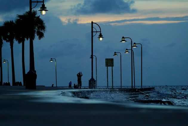 Photo prise à La Nouvelle Orléans où l'ouragan Ida s'est dangereusement rapproché...