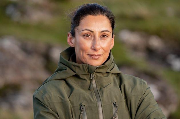 Saira Khan on the set of Celebrity SAS: Who Dares Wins