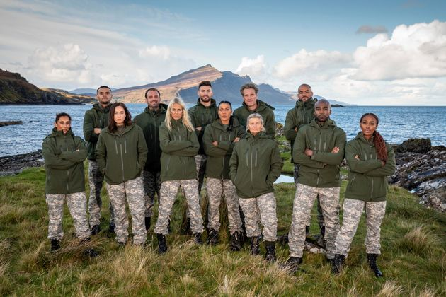 Saira (pictured on the far left) with the rest of the Celebrity SAS: Who Dares Wins cast