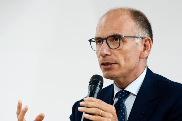 Former Italian prime minister Enrico Letta attends at The Medef's annual summer meeting 'La Ref 2021' on the Longchamp race course in Paris August 26, 2021, Paris (Photo by Daniel Pier/NurPhoto via Getty Images)