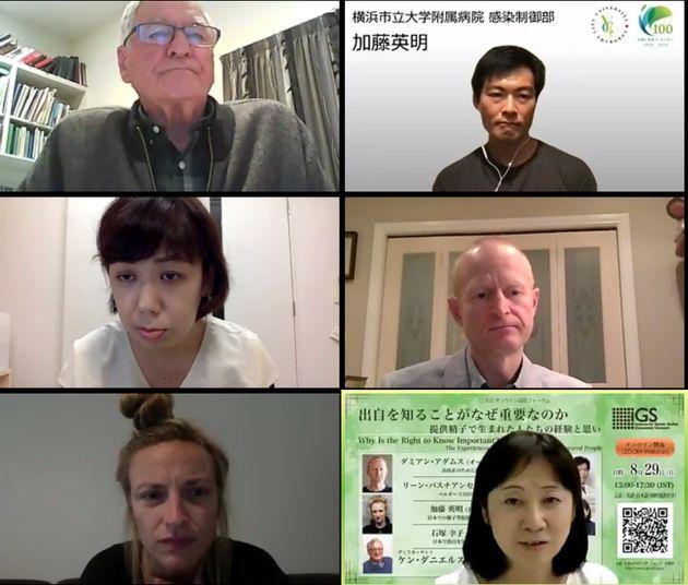 (右上から時計回りに)加藤英明さん、ダミアン・アダムスさん、仙波由加里さん、リーン・バスチアンセンさん、石塚幸子さん、ケン・ダニエルズさん