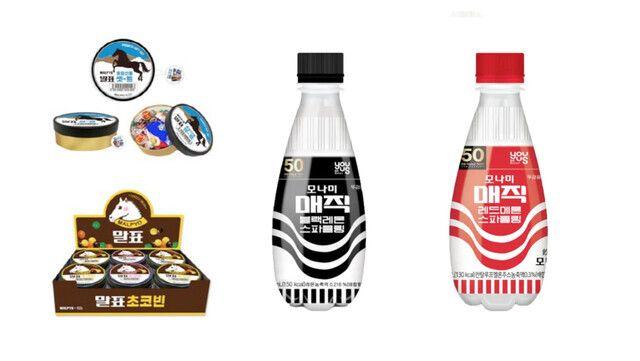 CU가 말표산업과 협업해 만든 구두약 초콜릿과 GS25가 모나미와 협업해 만든 매직