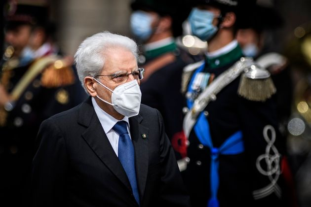 ROME, ITALY - JUNE 02: Italian President Sergio Mattarella attends the celebrations for the 75th anniversary of the proclamation of the Italian Republic (Republic Day), on June 2, 2021 in Rome, Italy. 2021 marks the 75th anniversary of the Italian Republic, which is celebrated without the usual parade because of the current COVID-19 pandemic. (Photo by Antonio Masiello/Getty Images)