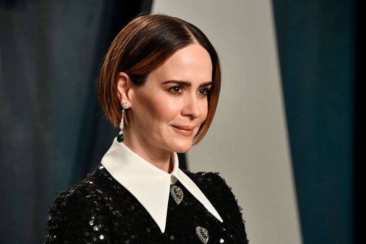 """Sarah Paulson portrays Linda Tripp in the upcoming installment of FX's anthology series """"Impeachment: American Crime Story."""""""