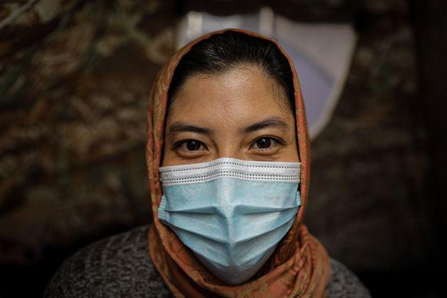 Une réfugiée afghane à Jakarta, en Indonésie, le 27 août