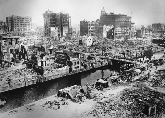 関東大震災後の東京の街