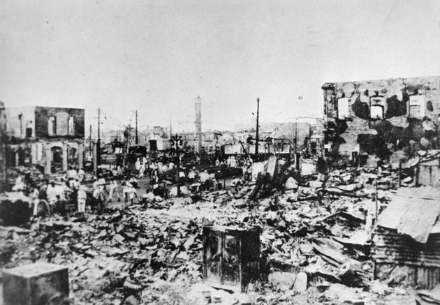 関東大震災で焼失した東京・銀座周辺