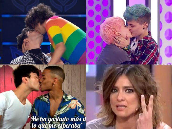 Distintos momentos de visibilidad LGTBI en la televisión.