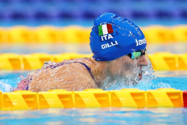 TOKYO, JAPAN - AUGUST 30: Carlotta Gilli of Team Italy competes in Women's 200m Individual Medley - SM13 Final on day 6 of the Tokyo 2020 Paralympic Games at Tokyo Aquatics Centre on August 30, 2021 in Tokyo, Japan. (Photo by Lintao Zhang/Getty Images)