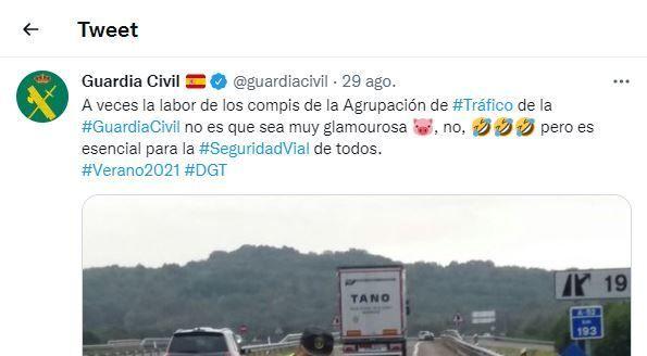 El comentado tuit de la Guardia