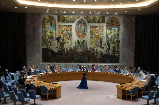 Miembros del Consejo de Seguridad de la ONU en la sede de Nueva