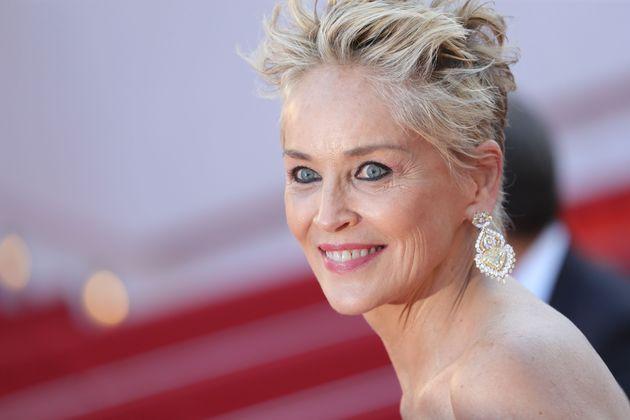 Sharon Stone sur le tapis rouge du Festival de Cannes le 14 juillet