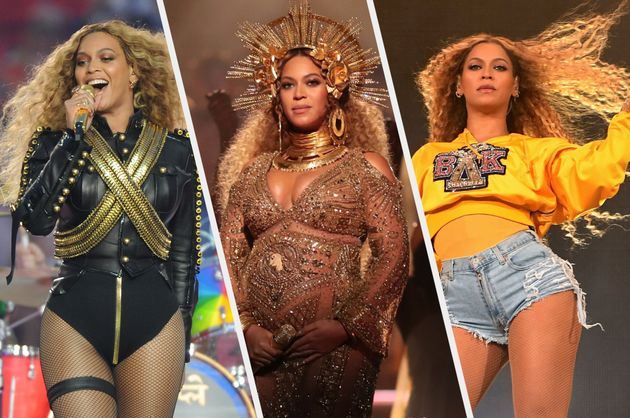 Beyoncé during three of her most iconic performances