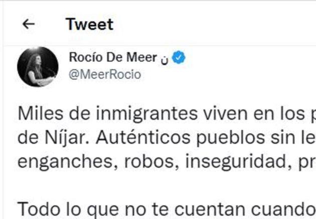 El tuit de Rocío de
