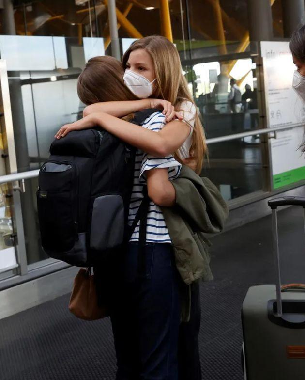 El abrazo de Leonor y