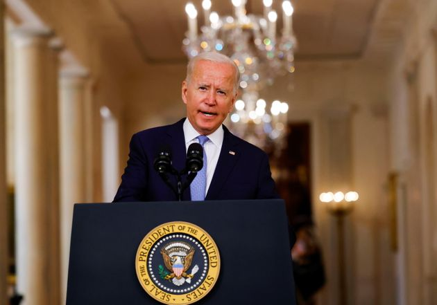 <strong>Joe Biden delivers remarks on Afghanistan during a speech at the White House.</strong>