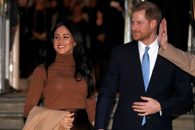 Meghan and Harry in January