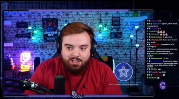 Ibai Llanos, durante una retransmisión en Twitch.