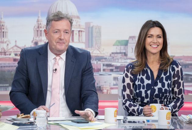 Piers with former Good Morning Britain co-host Susanna