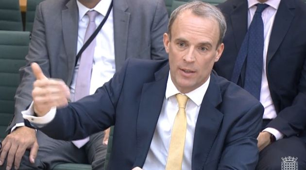 Foreign secretary Dominic Raab quizzed by MPs in