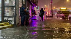 Dramatic Videos Capture MomentNew York Is Hit By Flash Floods From Hurricane