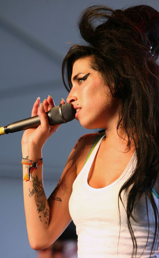 Amy Winehouse performing at Coachella in