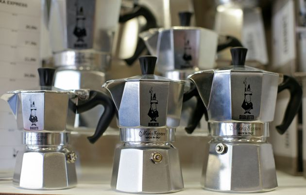 Bialetti coffee machine are seen in a Bialetti point in Rome, Italy, March 30, 2016. REUTERS/Max