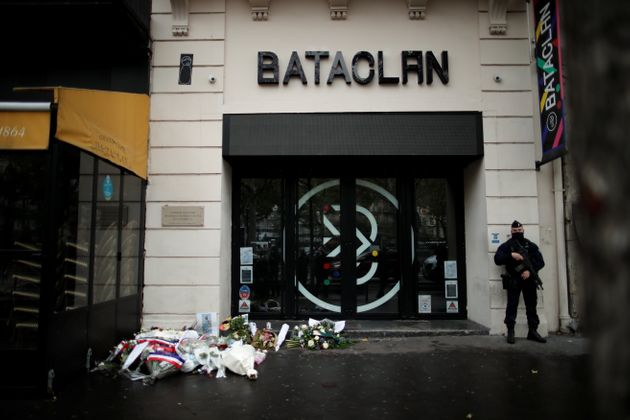 L'entrée du Bataclan le 13 novembre 2020, 5 ans après les attentats à Paris et