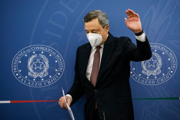 02/09/2021 - 19:27:31 Prime Minister, Mario Draghi during a press conference at the end of a Cabinet...