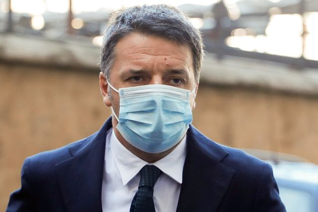 Italia Viva party leader Matteo Renzi arrives at Montecitorio palace for talks on forming a new government, in Rome, Italy, February 9, 2021. REUTERS/Yara Nardi