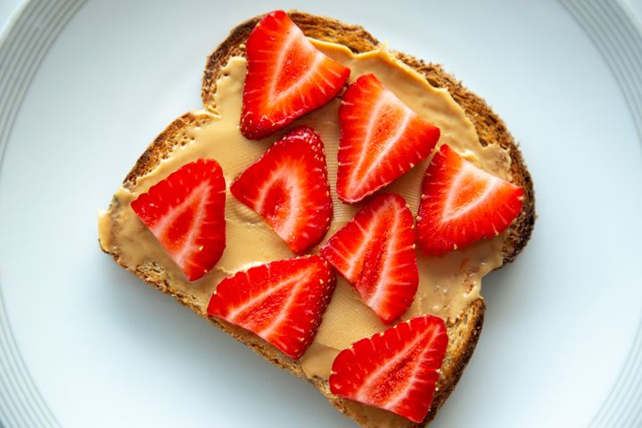 Replace sugary jellies and jams with fresh berries in a nut butter sandwich.