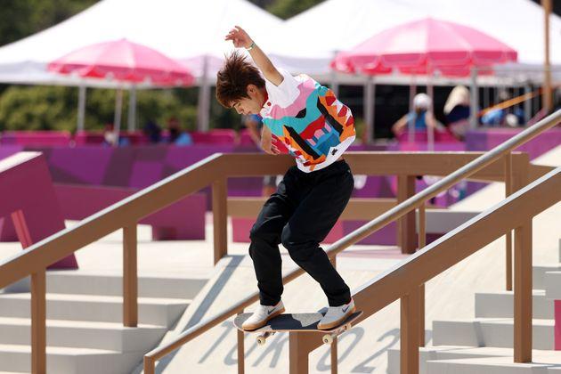 東京オリンピックに出場した堀米雄斗選手。男子ストリート初代金メダリストになった。