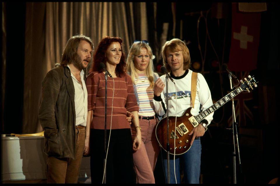 ABBA pictured in