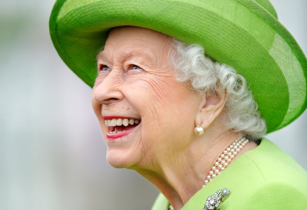 EGHAM, UNITED KINGDOM - JULY 11: (EMBARGOED FOR PUBLICATION IN UK NEWSPAPERS UNTIL 24 HOURS AFTER CREATE DATE AND TIME) Queen Elizabeth II attends the Out-Sourcing Inc. Royal Windsor Cup polo match and a carriage driving display by the British Driving Society at Guards Polo Club, Smith's Lawn on July 11, 2021 in Egham, England. (Photo by Max Mumby/Indigo/Getty Images)