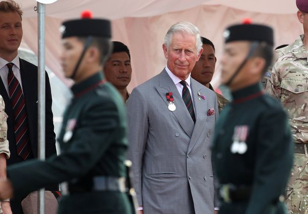 FOLKESTONE, ENGLAND - JULY 01: Charles, Prince of Wales Colonel in Chief of The Royal Gurkha Rifles, is seen visiting 2nd Battalion The Royal Gurkha Rifles at Shorncliffe in Kent to celebrate 200 years of Gurkha service to the Crown on July 1, 2015 in Folkestone, United Kingdom. (Photo by Danny E. Martindale/Getty Images)