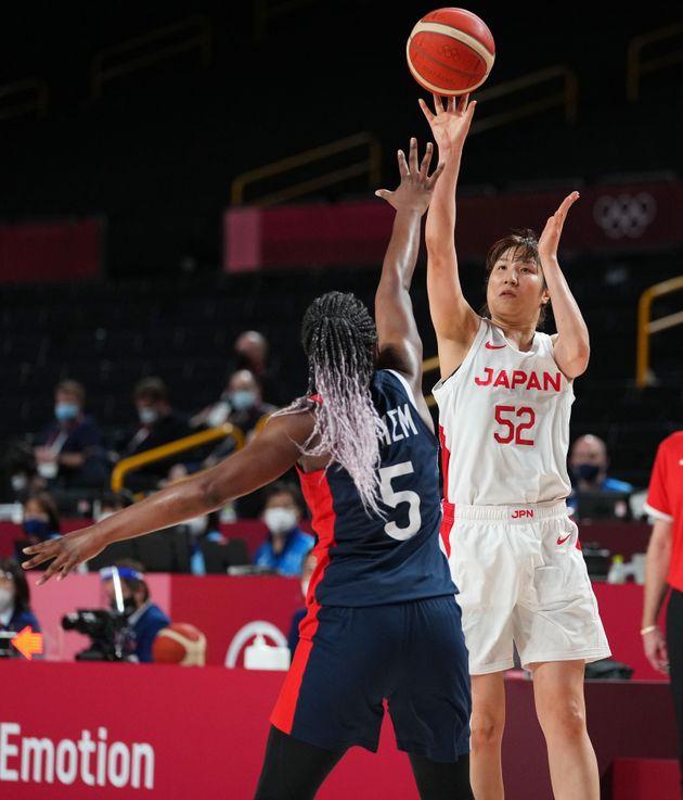 オリンピック女子バスケ、フランス戦の宮澤選手