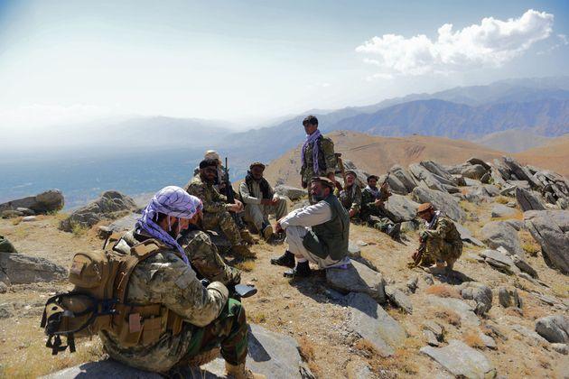 Des membres du mouvement de résistance anti-talibans dans la région du Panshir le 1er septembre