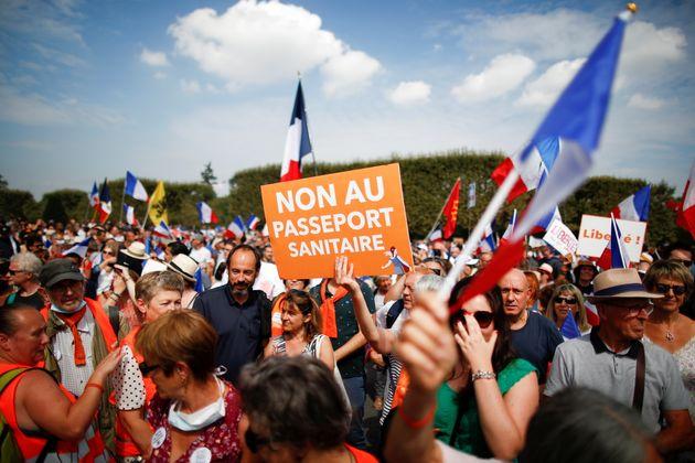 Manifestation contre le pass sanitaire à Paris, le 4 septembre