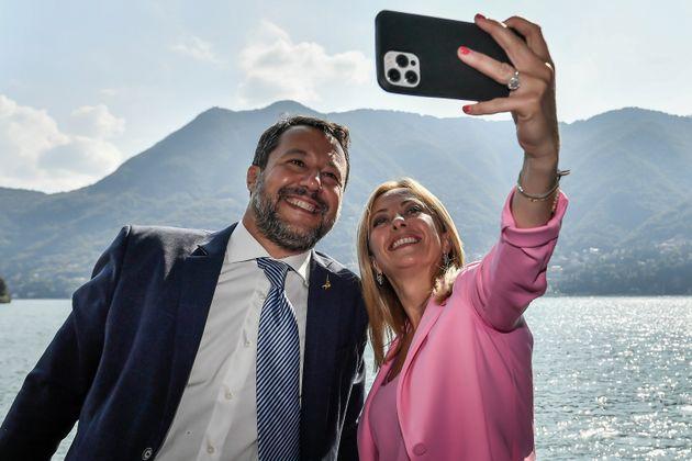 Salvini e Meloni, una domenica al