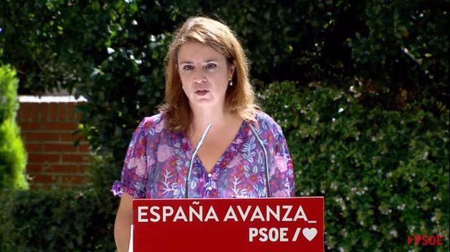 La vicesecretaria general del PSOE, Adriana Lastra, este domingo en