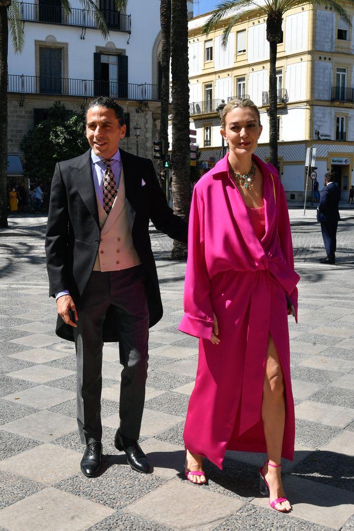 Marta Ortega y Carlos Torretta, en Jerez el 4 de septiembre de 2021.