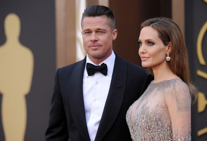 Angelina Jolie y Brad Pitt, juntos en unos premios Oscar.