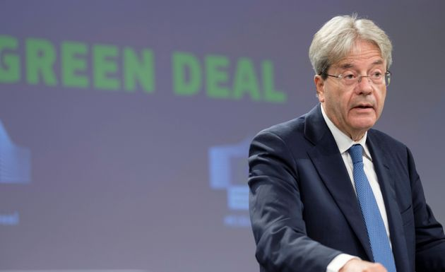 BRUSSELS, BELGIUM - JULY 15: EU Commissioner for Economy Paolo Gentiloni is talking to media in the Berlaymont...