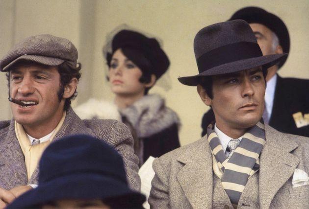 Jean Paul Belmondo et Alain Delon sur le tournage de