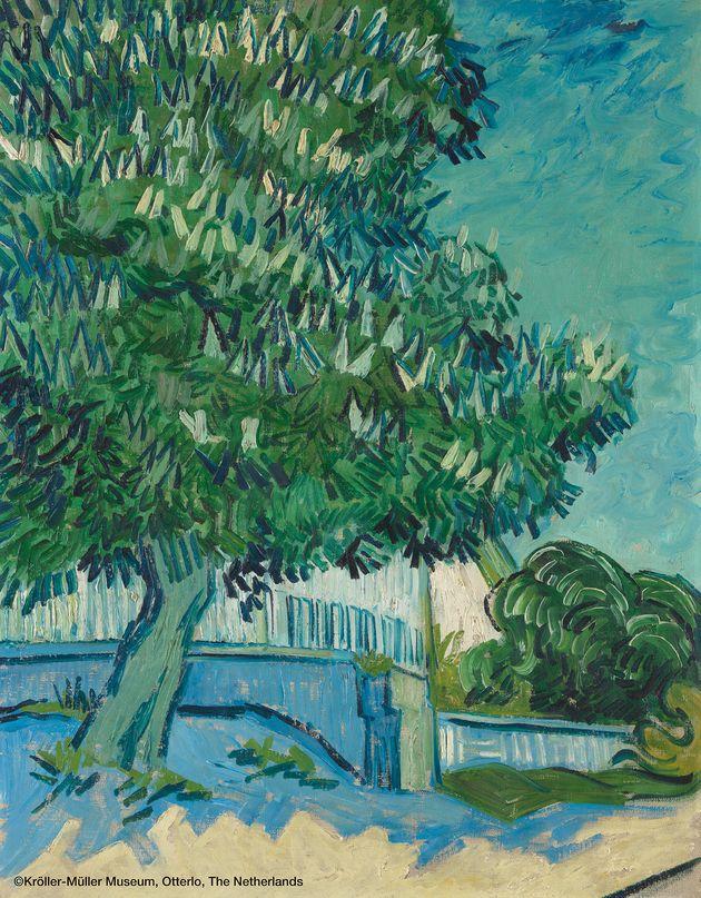 フィンセント・ファン・ゴッホ 《花咲くマロニエの木》 1890年5月22-23日