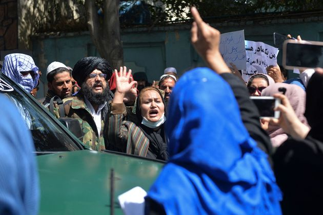 Crowds of Afghans were fighting back against Pakistan after Panjshir alleged
